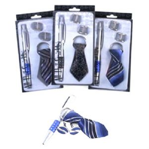 Novelty Tie Keyring, Pen & Cuff Links - Mens Boxed Gift Set